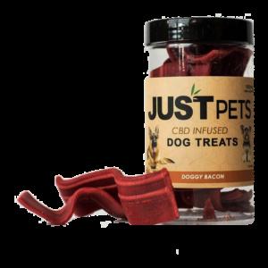Just Pets CBD Infused Dog Treats Doggy Bacon