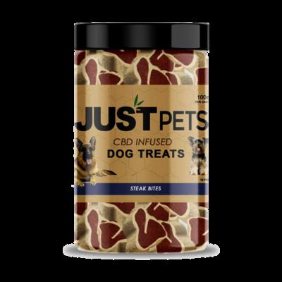 Just Pets CBD Infused Dog Treats Steak Bites