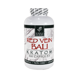 Whole Herbs Red Vein Bali Kratom Capsules