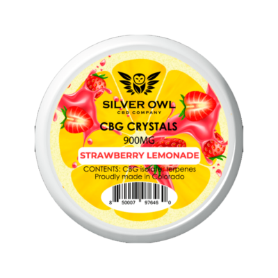Silver Owl CBG Crystals 900mg Strawberry lemonade