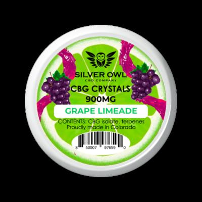 Silver Owl CBG Crystals 900mg Grape limeade