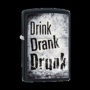Zippo Lighter 29618 Drink Drank Drunk