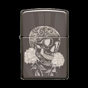 Zippo Lighter 29883 Fancy Skull Design