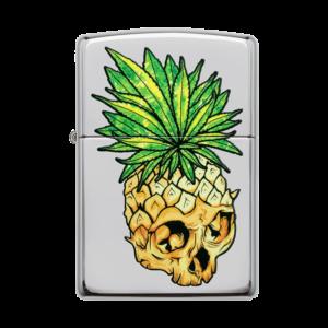 Zippo Lighter 49241 Skull Pineapple